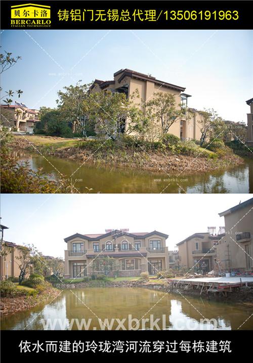 依水而建的玲珑湾河流穿过每栋建筑