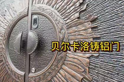 贝尔卡洛圆弧铸铝门